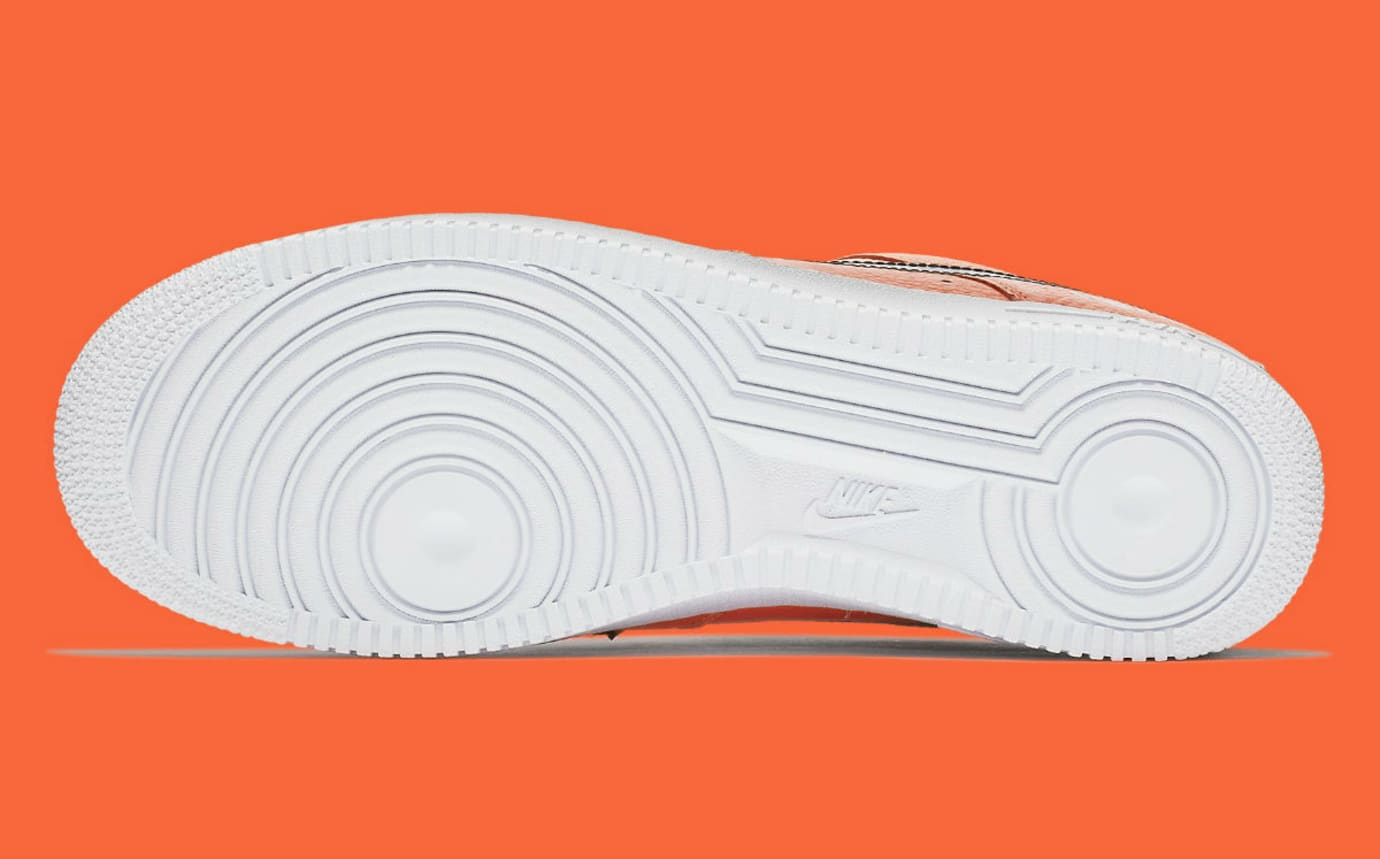 Nike Air Force 1 Low Just Do It Orange Release Date AR7719-800 Sole