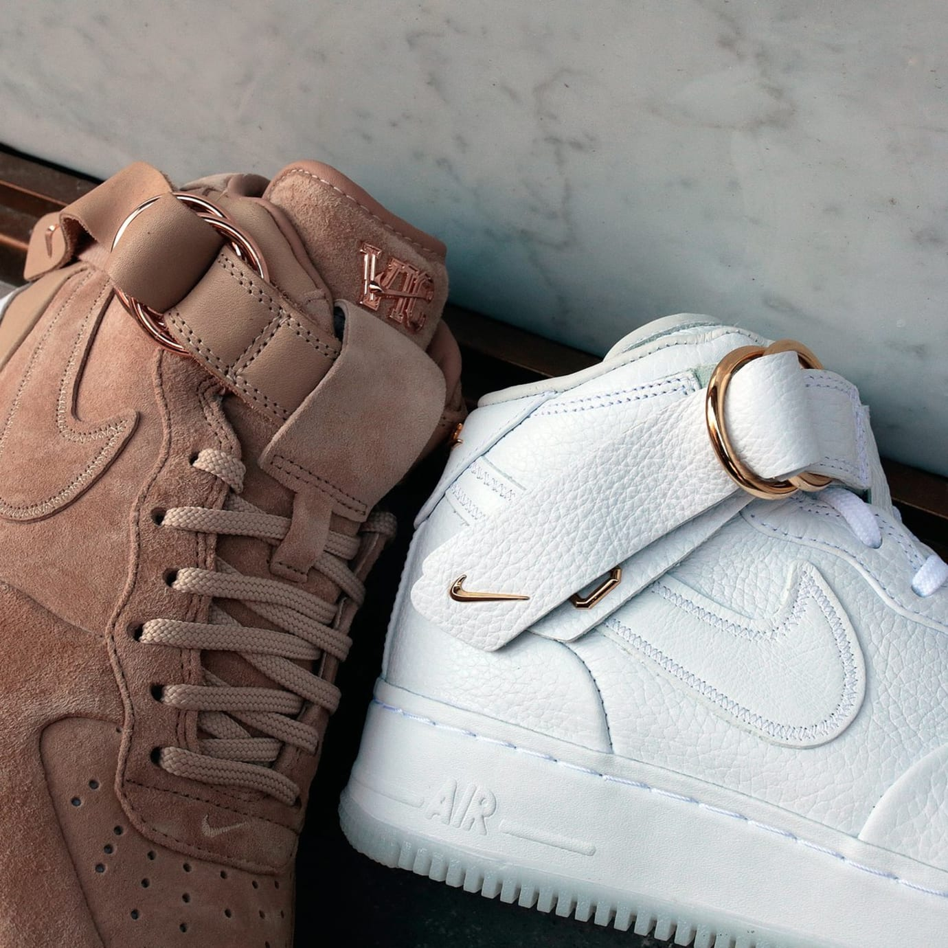 free shipping 342e0 68577 Victor Cruz x Nike Air Force 1 Mid CMFT QS (Tan and White)