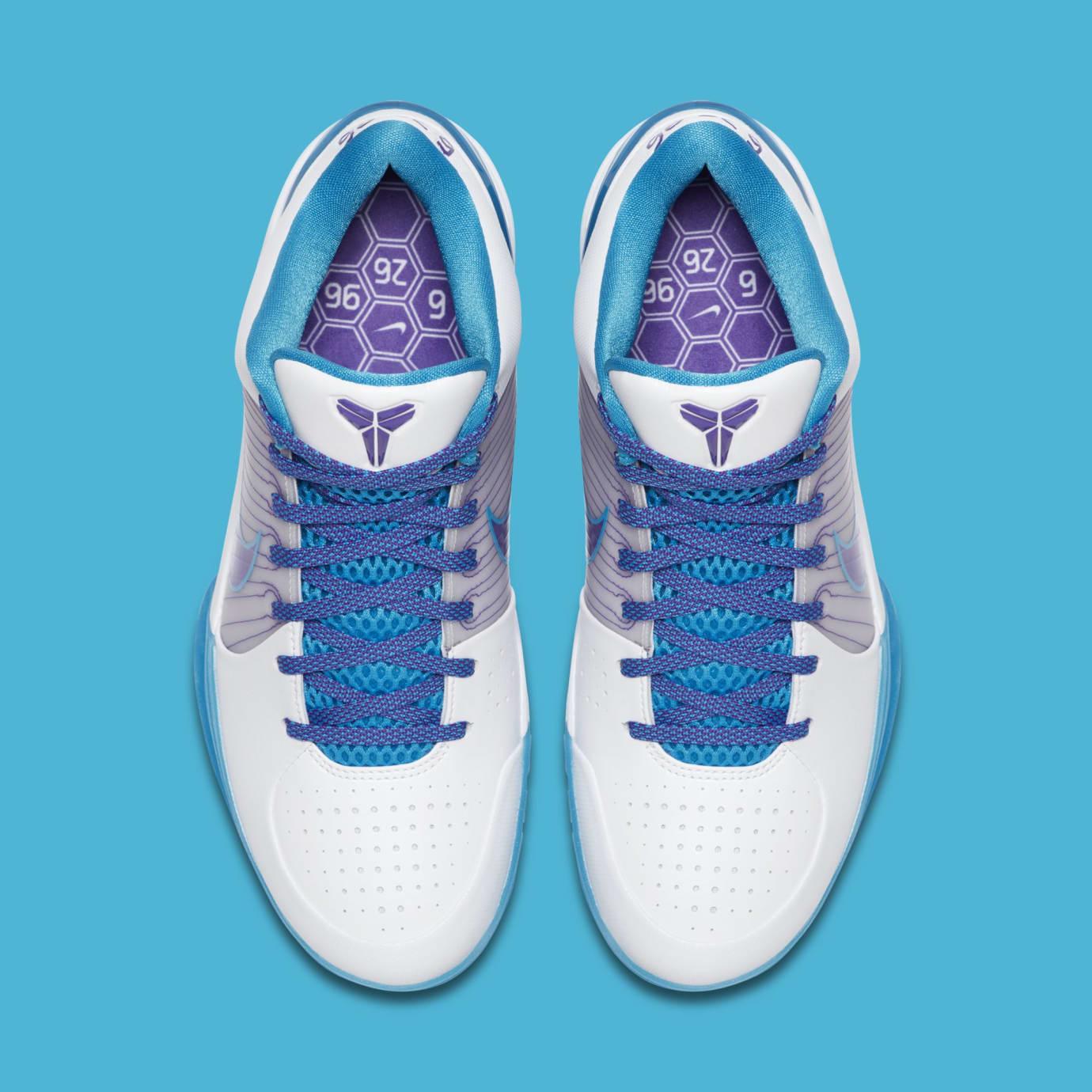 5c5380a31d5f Image via Nike Nike Kobe 4 Protro  White Orion Blue-Varsity Purple   AV6339-100