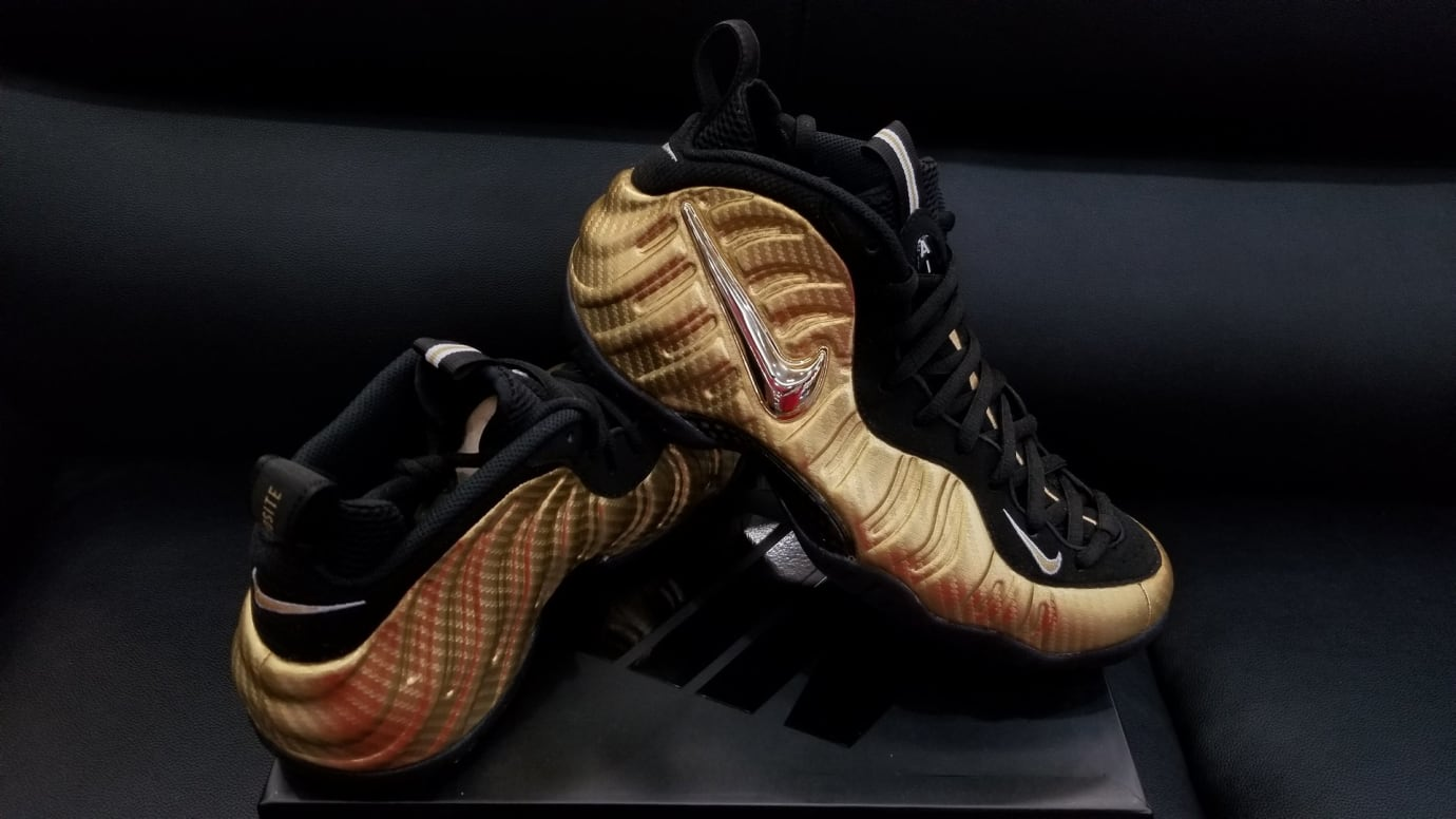 Nike Air Foamposite Pro Metallic Gold Release Date Right 624041-701
