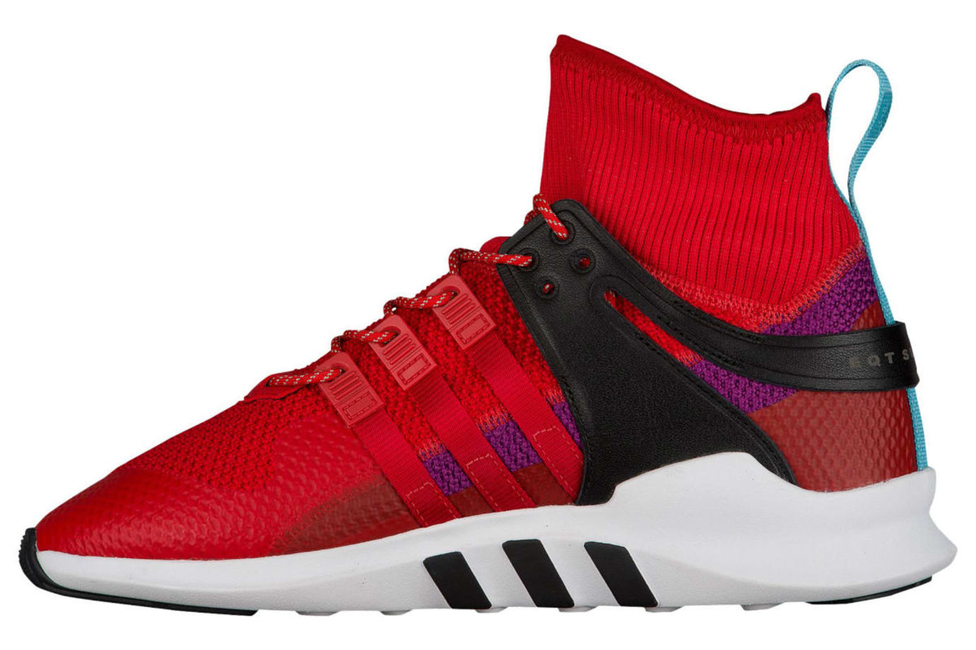 best authentic d629f 7f6f6 Adidas EQT Support ADV Winter Scarlet Shock Purple Release Date Medial