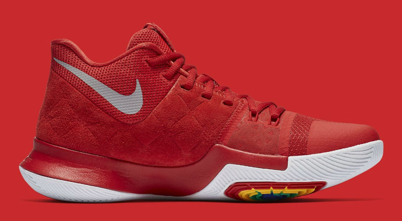 Nike Kyrie 3 University Red Release Date Medial 852395-601