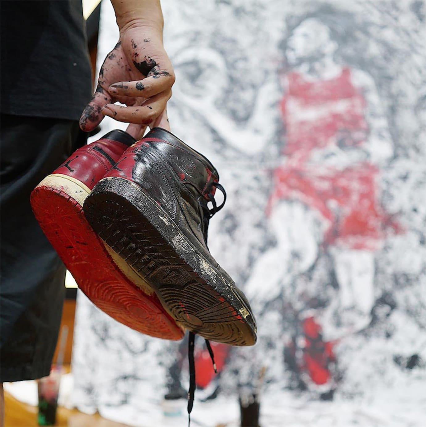 Artist Paints Michael Jordan with Air Jordans (4)