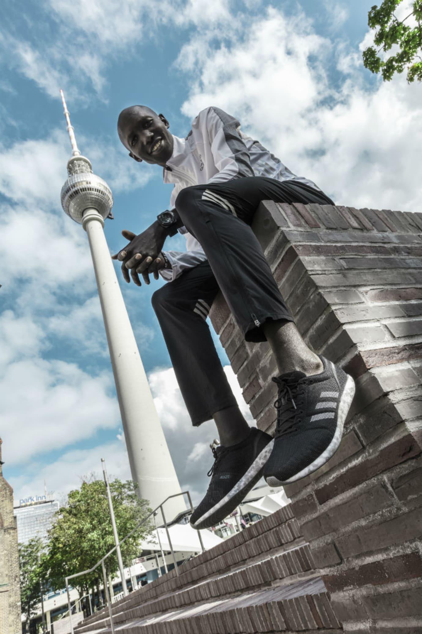 Wilson Kipsang Wearing Adidas AdiZero Sub2 Running Shoes