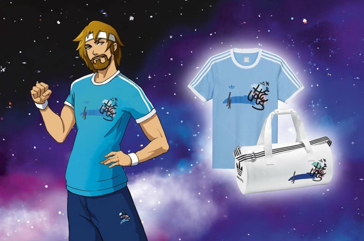 Helas x Adidas Skateboarding Anime Collection Release Date Top & Bag