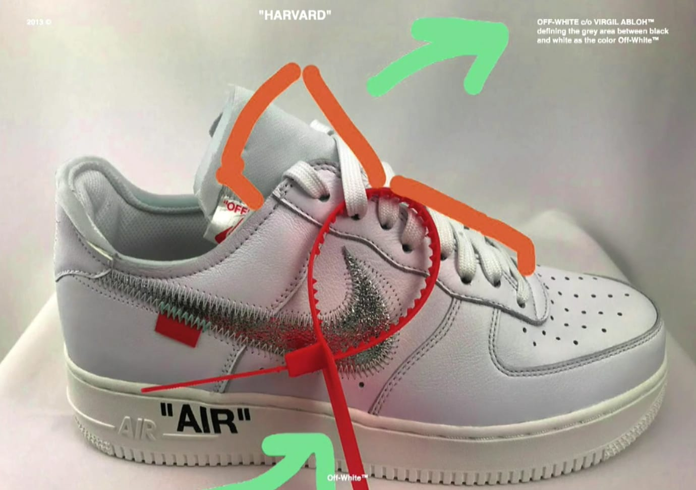 Virgil Abloh Nike Air Force 1 Grey