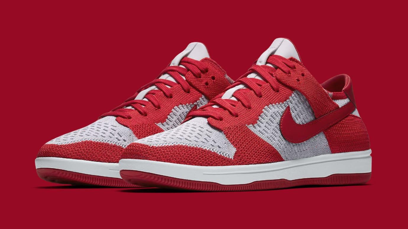 Nike SB Dunk Low Flyknit University Red 917746-600