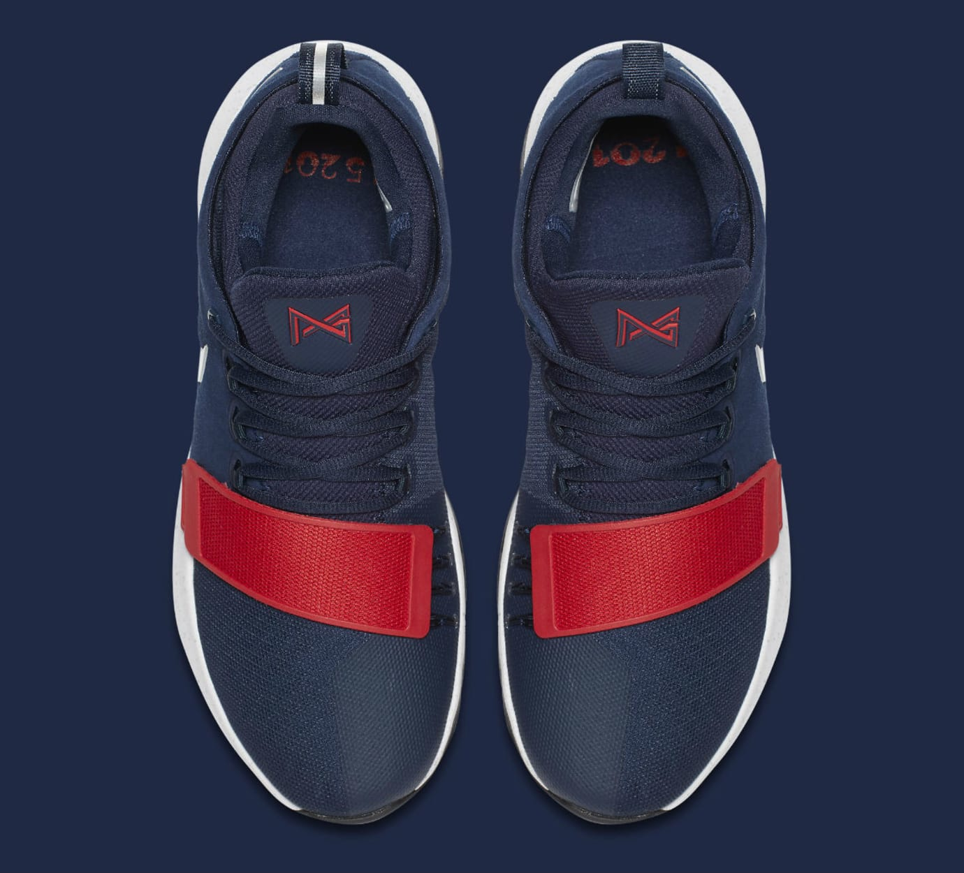Nike PG1 1 Navy/Red-White Silver Release Date Top