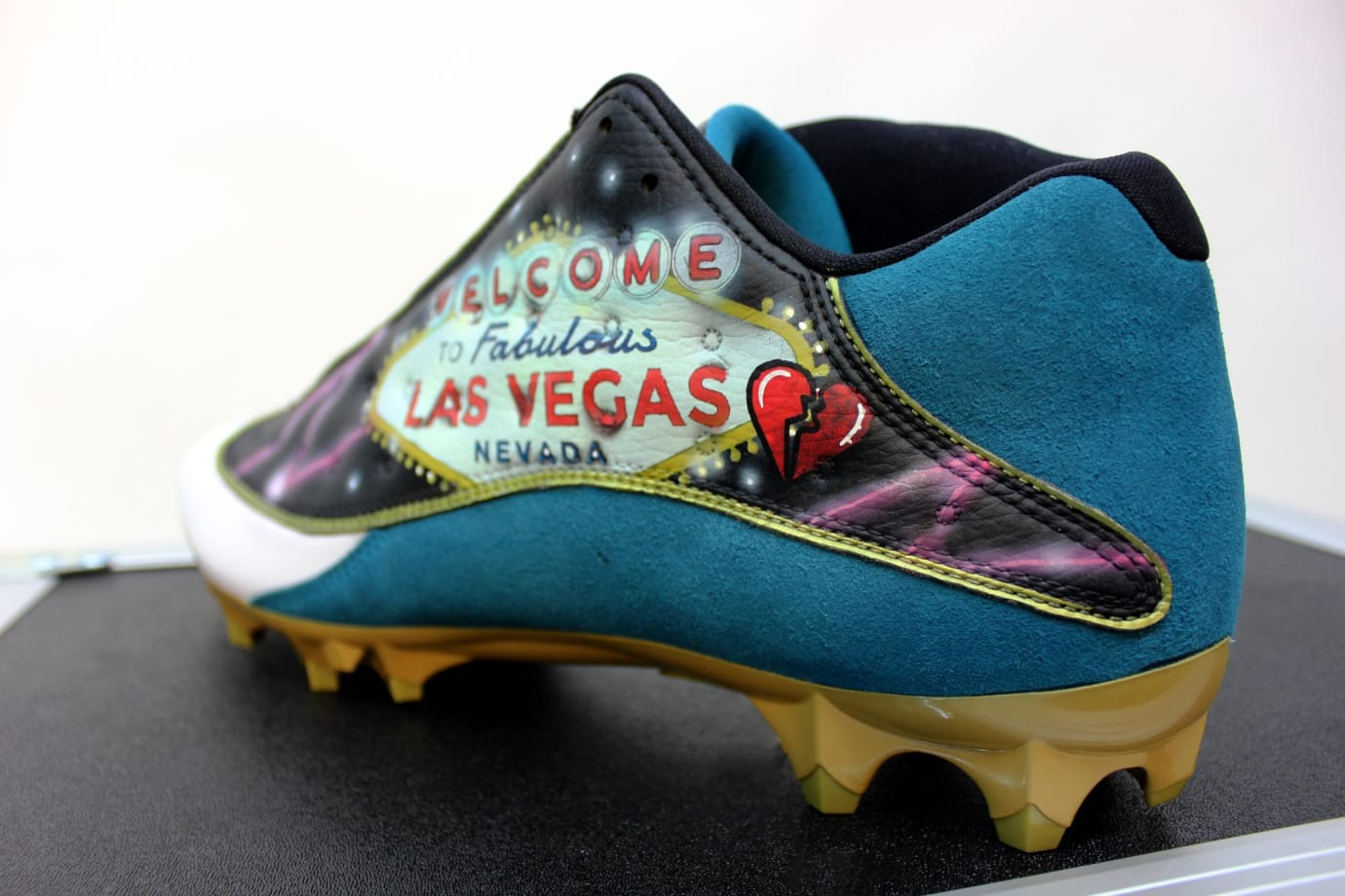 Jalen Ramsey Air Jordan 13 Low Las Vegas Victims Cleats (3)