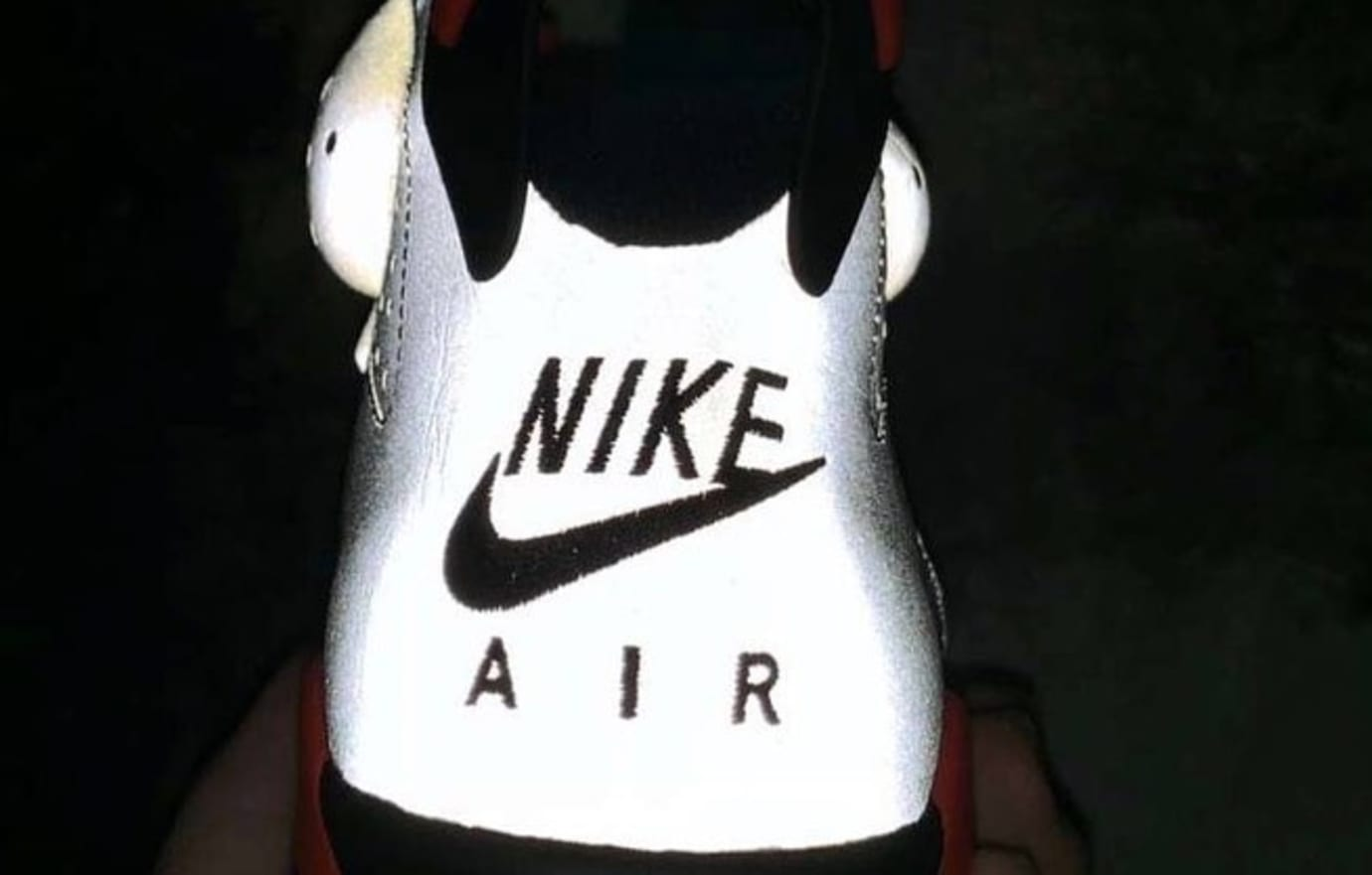 6fa7dbf6ba3239 Image via sneakerjamz · PSG x Air Jordan 6 Iron Grey Infrared 23-Black 3M  Heel
