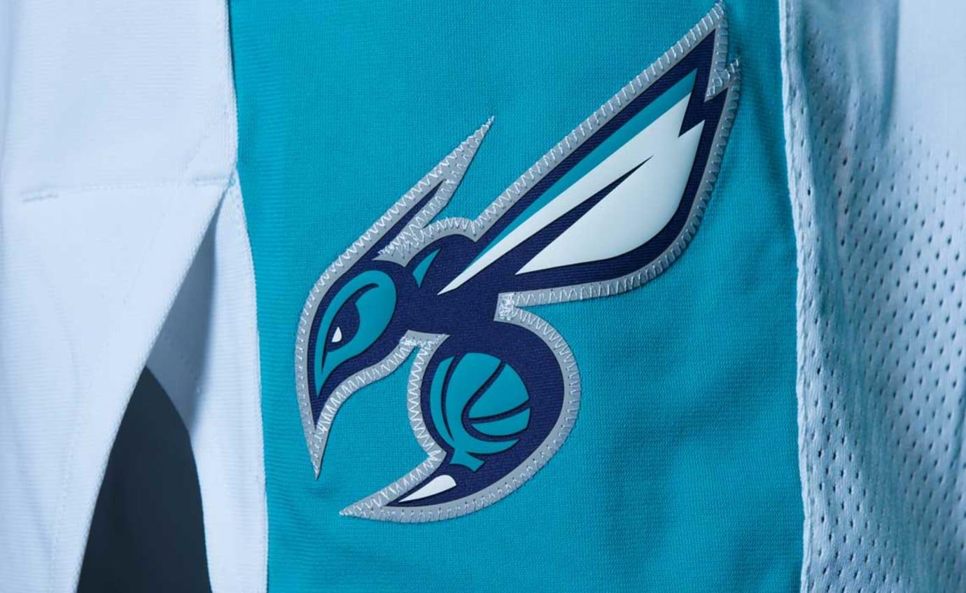 Jordan Hornets Jersey Home Association Shorts Logo