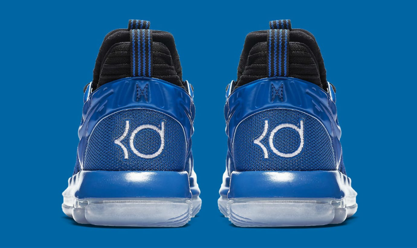 Nike KD 10 GS Foamposite Royal Release Date AJ7220-500 Heel