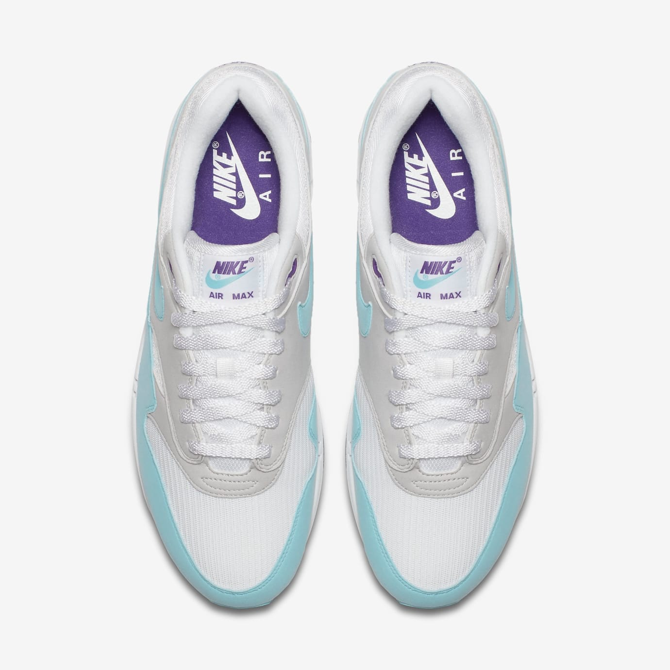 100% authentic 03456 8dab0 Image via Nike Nike Air Max 1 Anniversary  Aqua  908375-105 (Top)