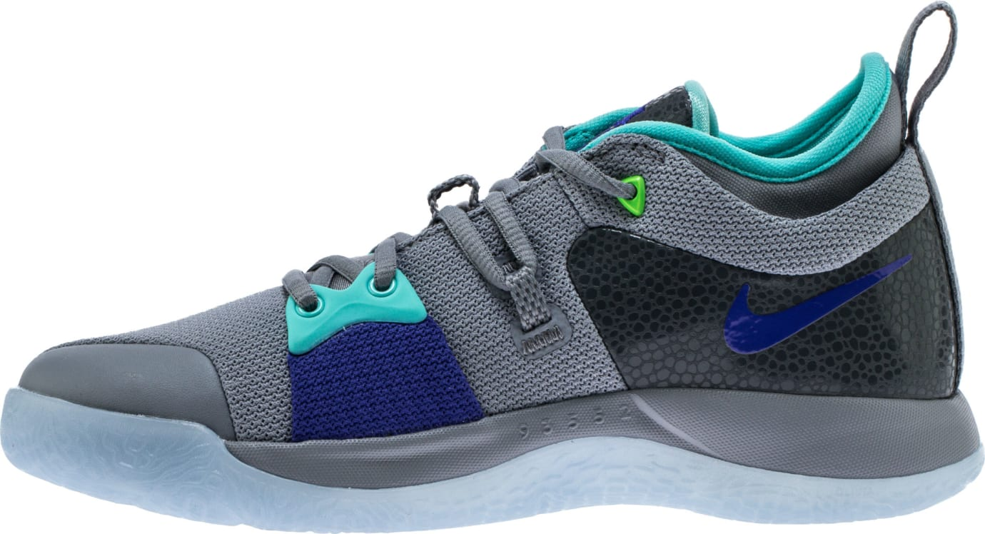 Nike PG2 Pure Platinum Neo Turquoise Wolf Grey Aurora Green Release Date AJ2039-002 Medial