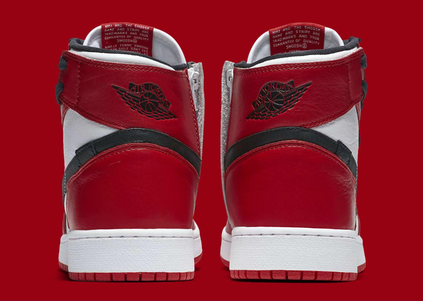 Air Jordan 1 I Rebel XX Chicago Release Date AT4151-100 Heel