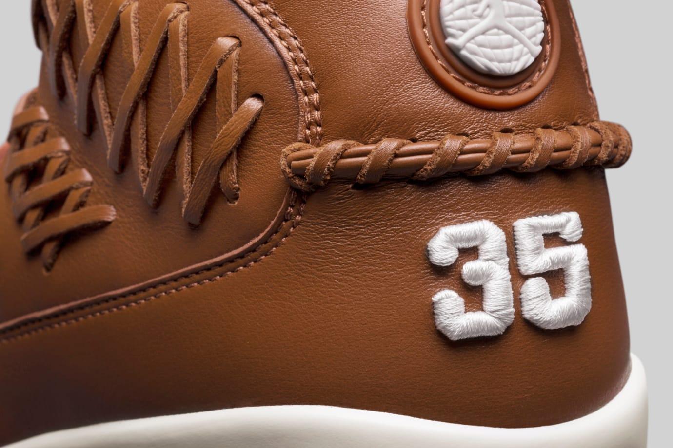 Baseball Air Jordan 9 Brown Heel