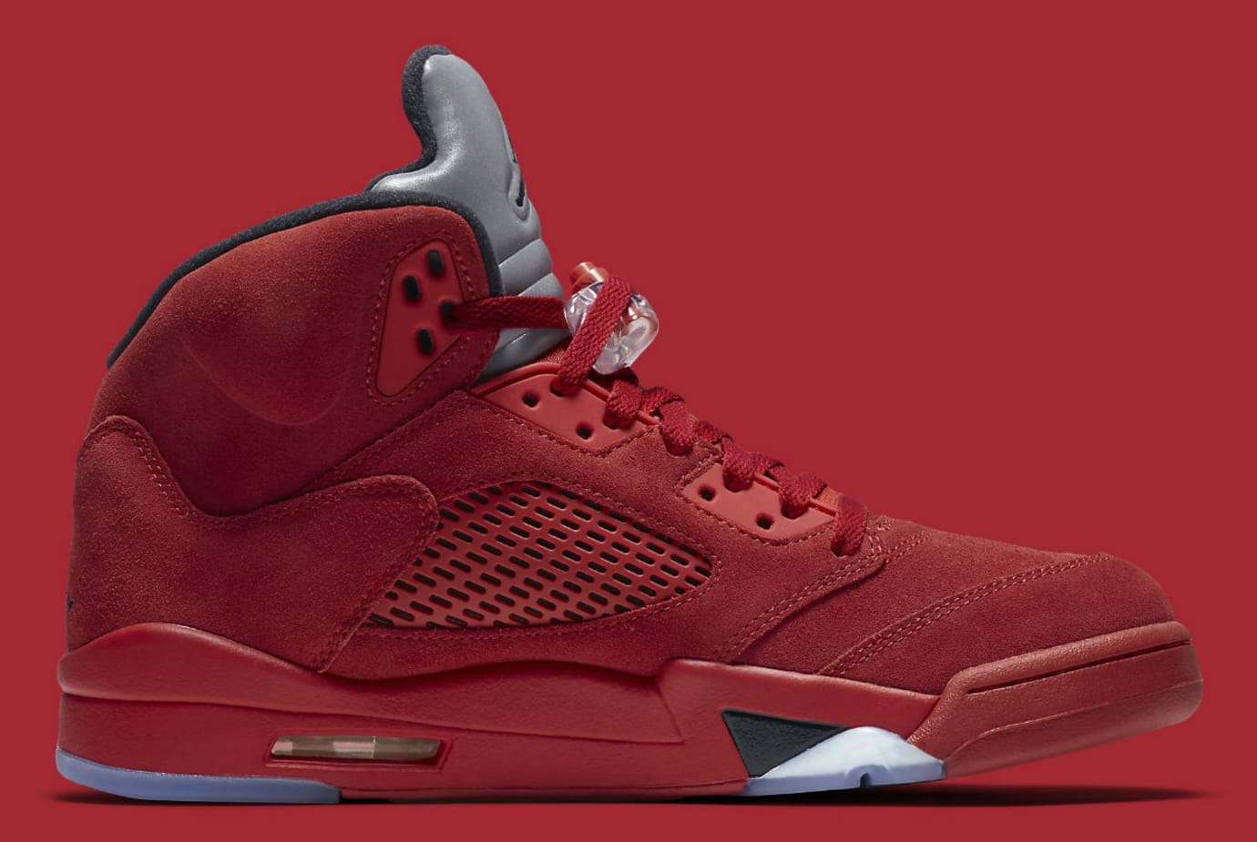 Air Jordan 5 Red Suede Release Date Medial 136027-602