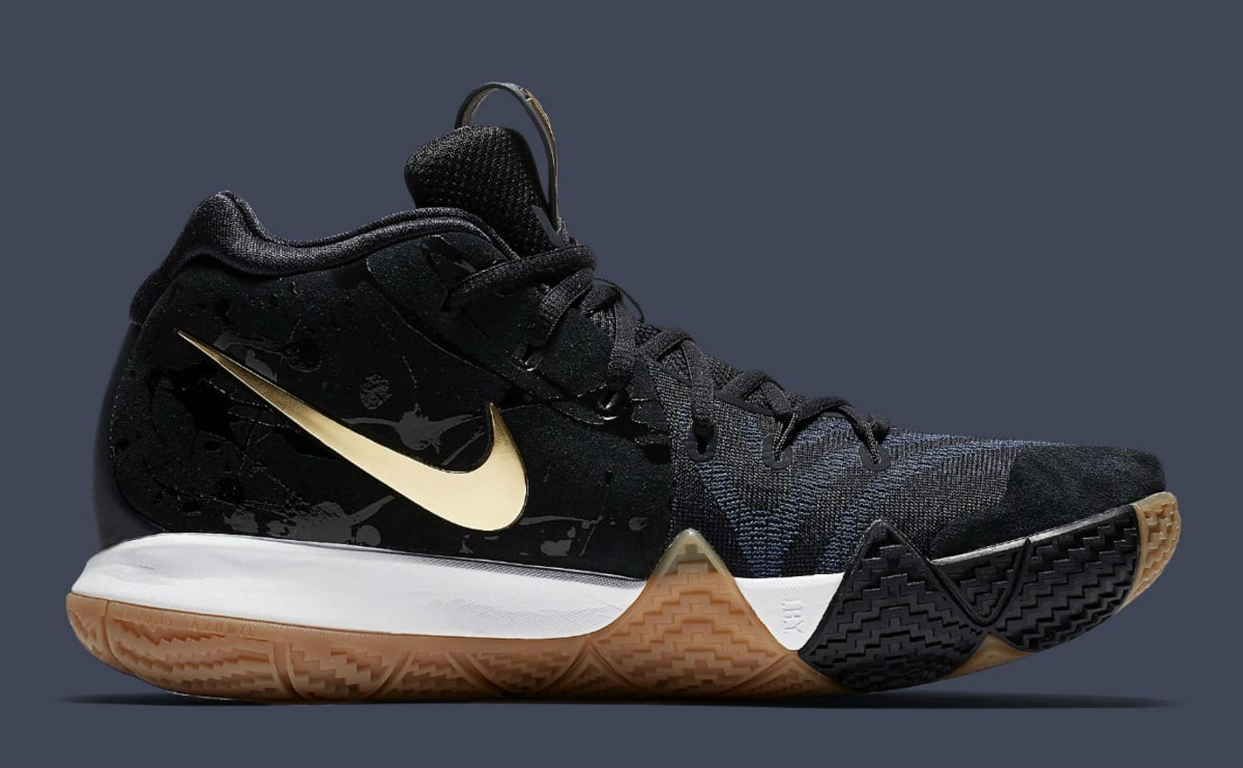 Nike Kyrie 4 Pitch Blue Gold Release Date 943807-403 Medial 1d8091a84