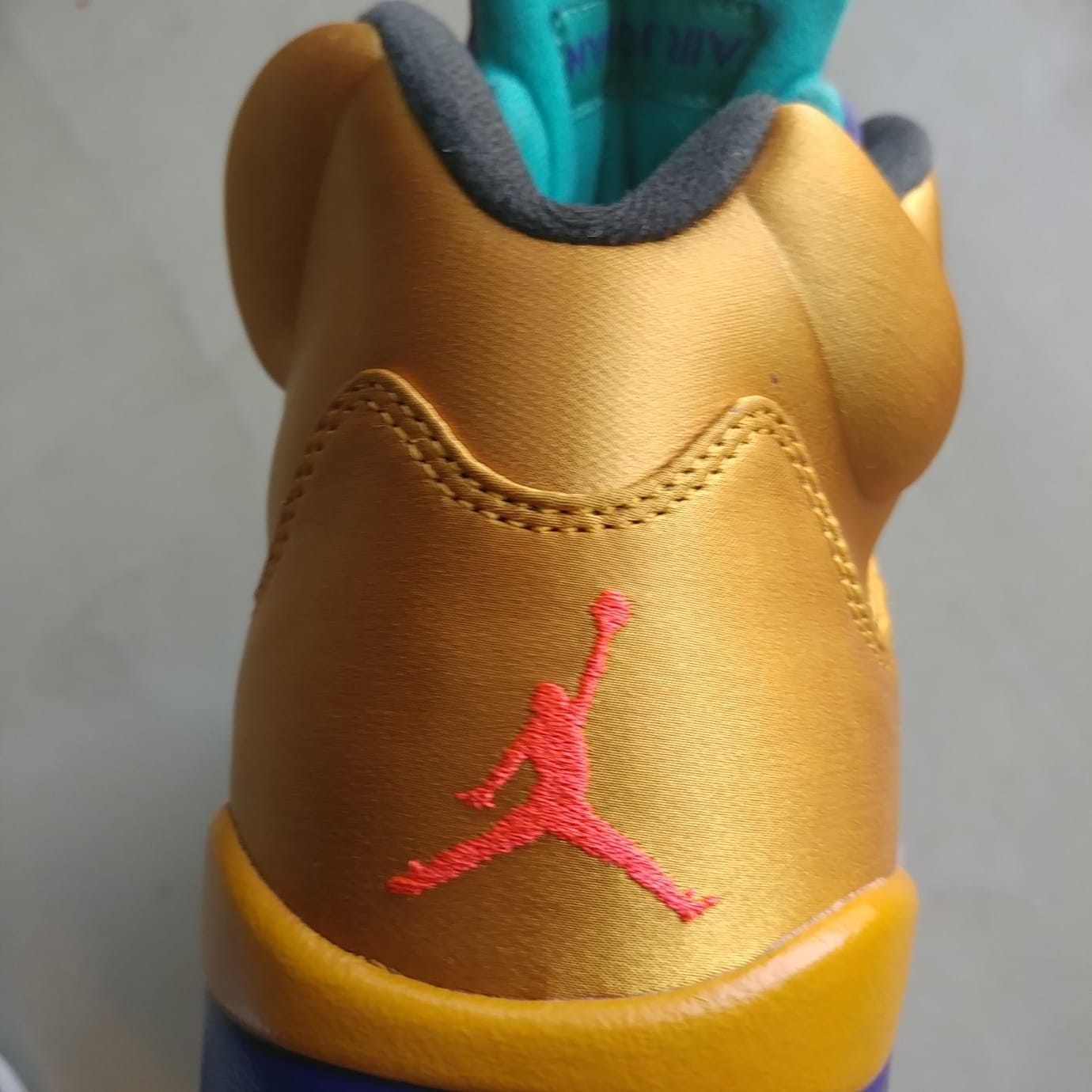 fee4964ce6d Image via Will Smith Air Jordan 5 NRG  Fresh Prince  Friends and Family  (Heel)
