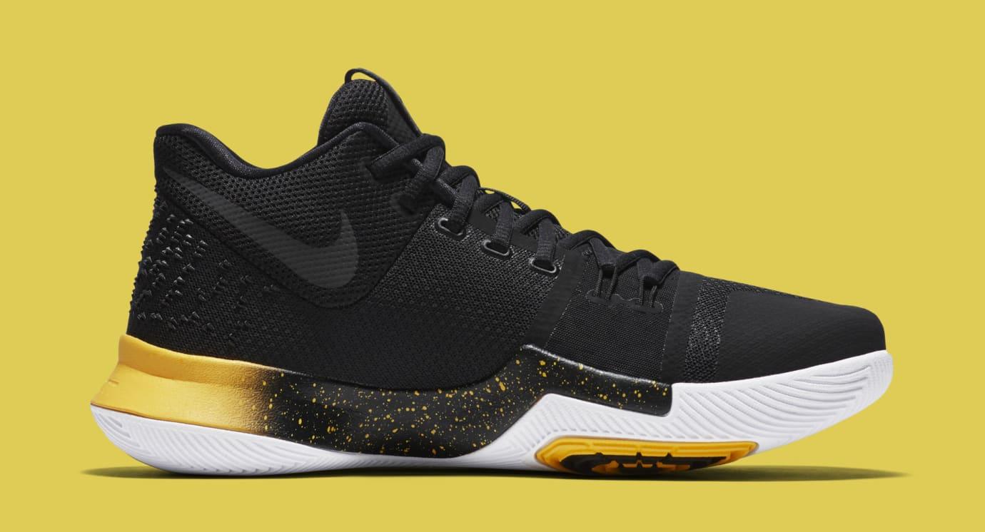 Nike Kyrie 3 Black Yellow Multicolor 852396-901 Medial
