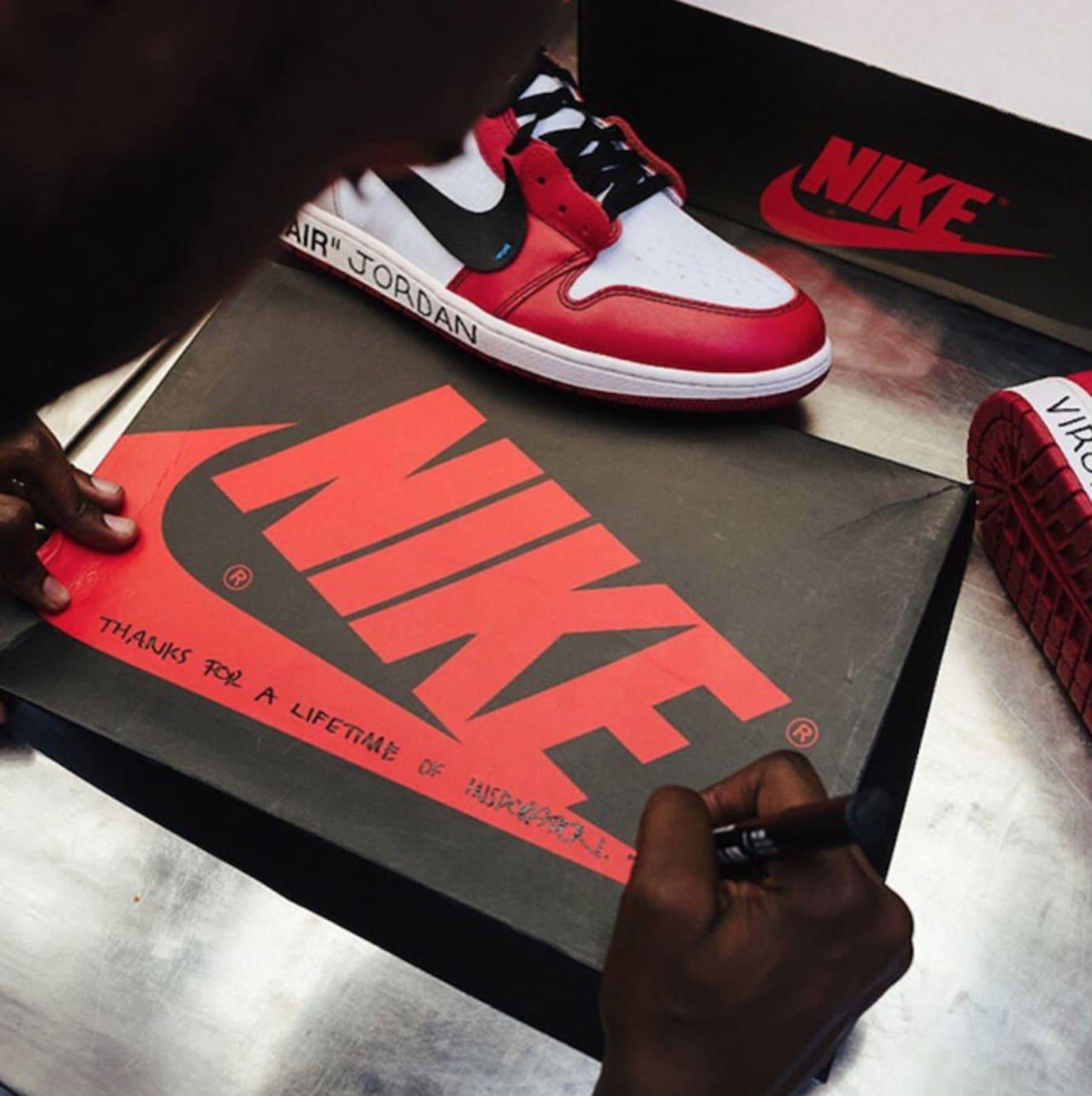 e118b4db37b3cb Michael Jordan Texted Nike for Custom Off-White x Air Jordan 1s ...