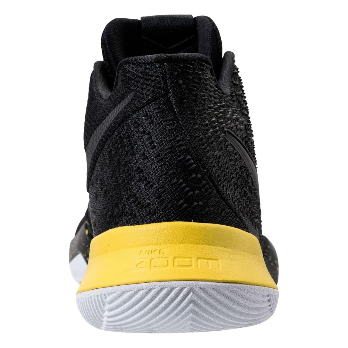 Nike Kyrie 3 Black/Yellow Release Date Heel 852395-901