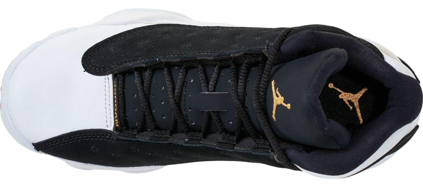 Air Jordan 13 Girls Black Gold White Gum Release Date 439358-021 Top