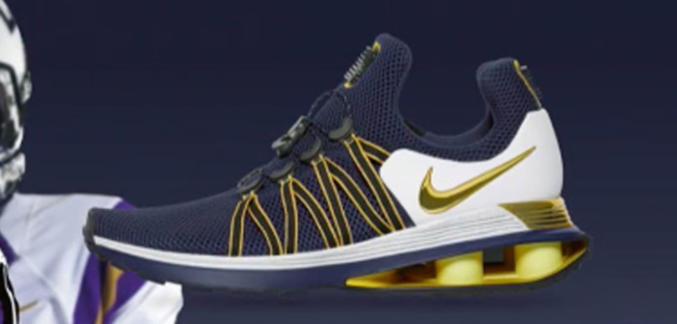 Nike Shox 2017 Gold Navy