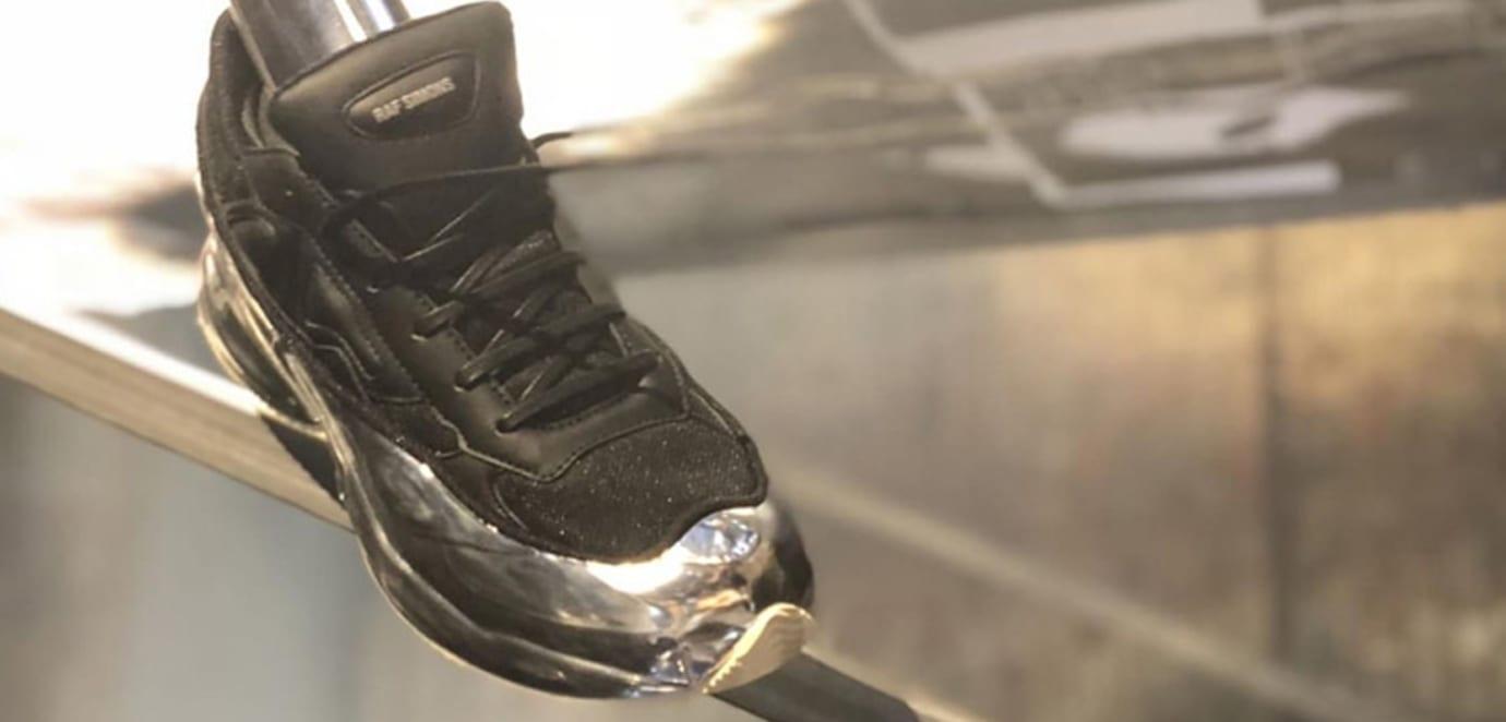 Raf Simons x Adidas Ozweego in Black/Silver