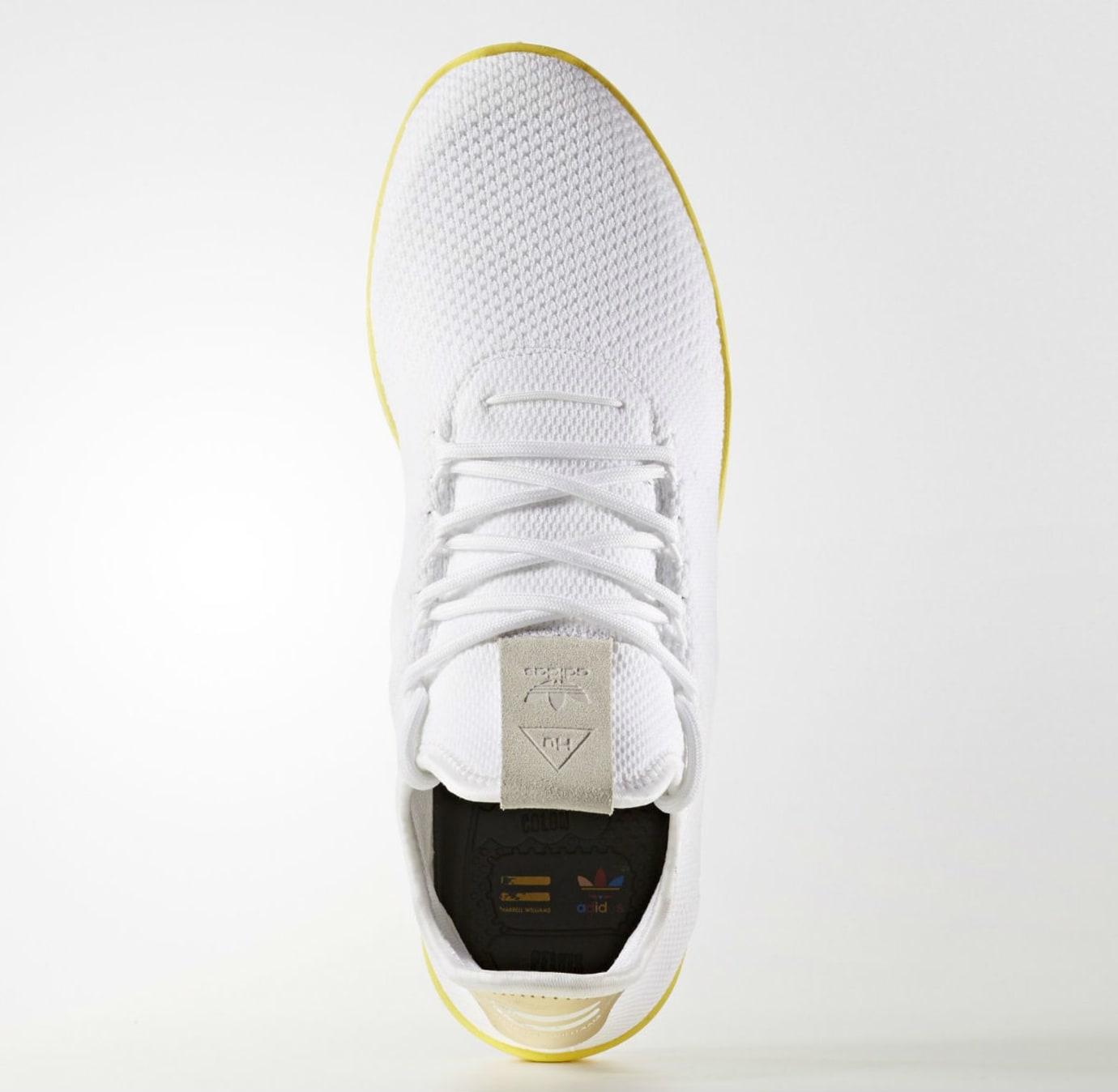 Pharrell x Adidas Tennis Hu White Yellow Release Date Top BY2674 869c0fc8b