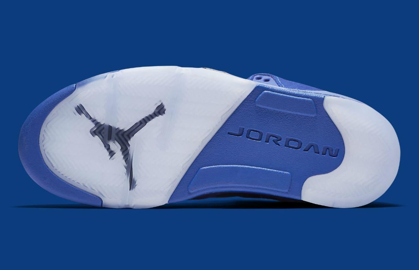 Air Jordan 5 Royal Blue Suede Flight Suit Release Date Sole 136027-401