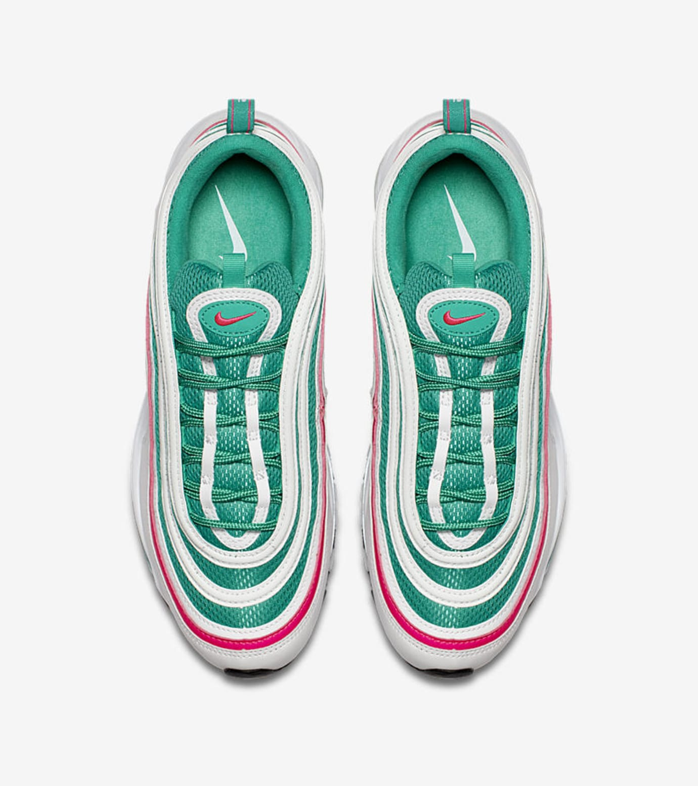 8fb055b80a1 Nike Air Max 97  South Beach  White Kinetic Green Pink Blast 921826 ...