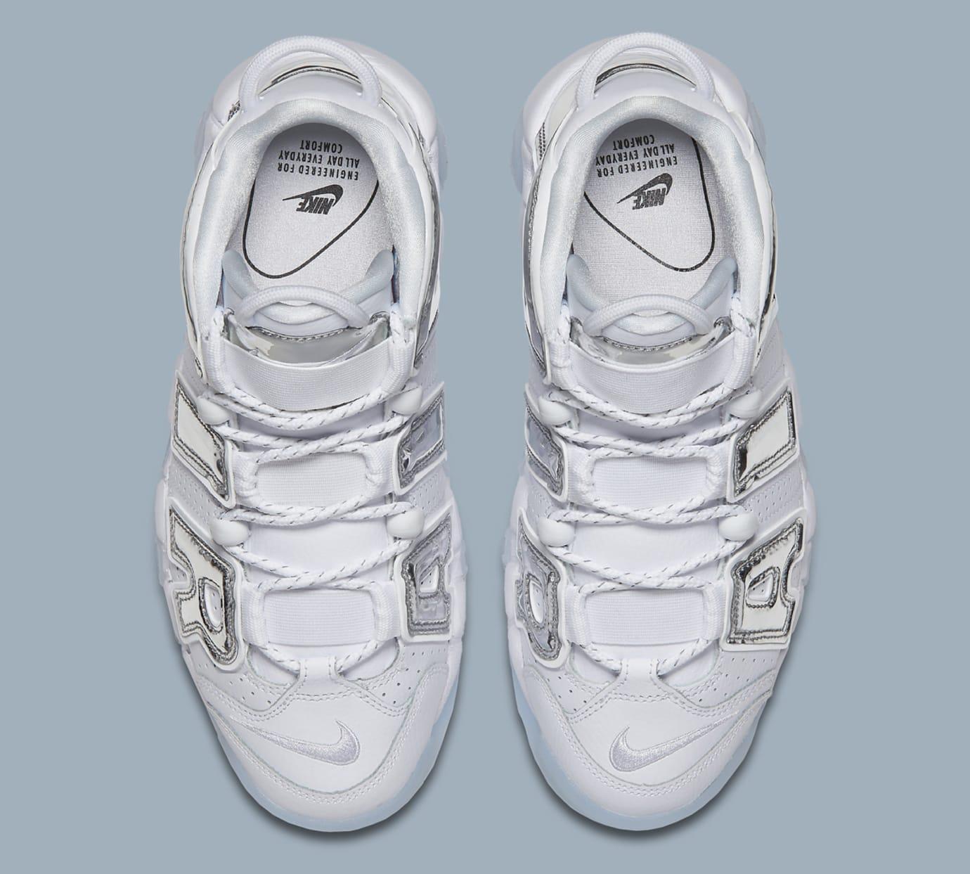 cheap for discount 2cad8 6ef5b Image via Nike Nike Air More Uptempo Chrome 917593-100 Top