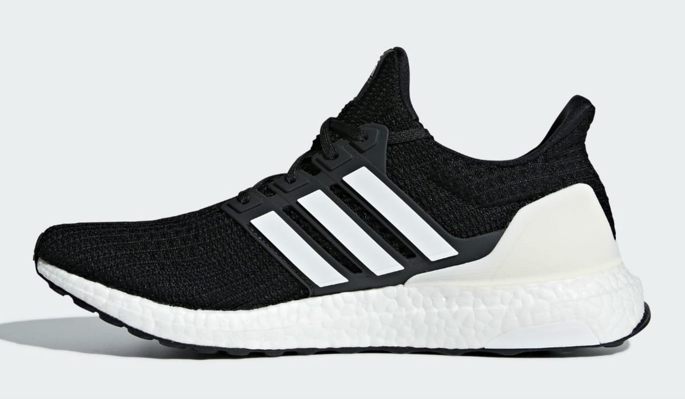 Image via Adidas Adidas Ultra Boost 4.0 Show Your Stripes Core Black Cloud  White Carbon Release date AQ0062 Medial 04f434986