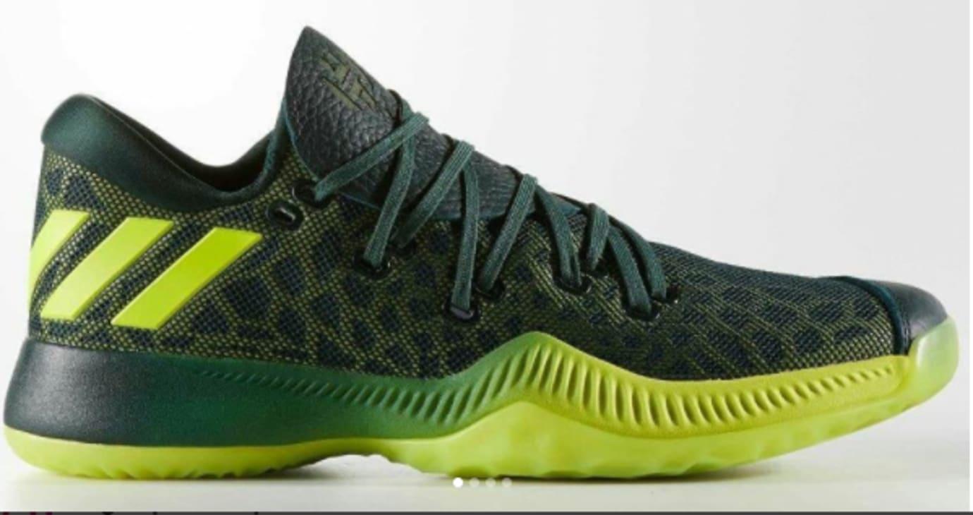 best website ee096 b65d5 Image via  thebasketballshoes · Adidas Harden BTE  Green  (Side)