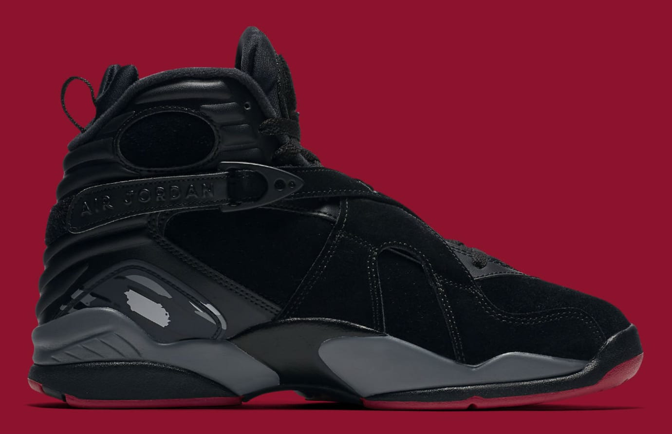 3f4a704f2d92 Air Jordan 8 Bred Black Gym Red Wolf Grey Release Date Medial 305381-022