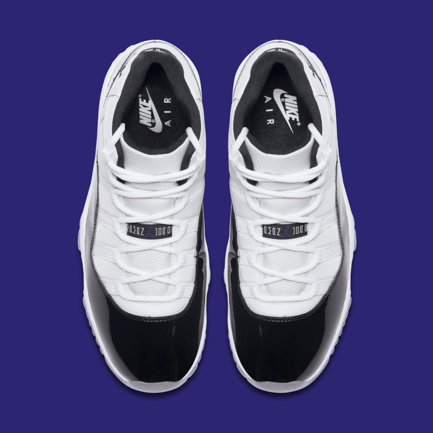 9dc73fc01fec Image via Nike Air Jordan 11  Concord  378037-100 (Top)