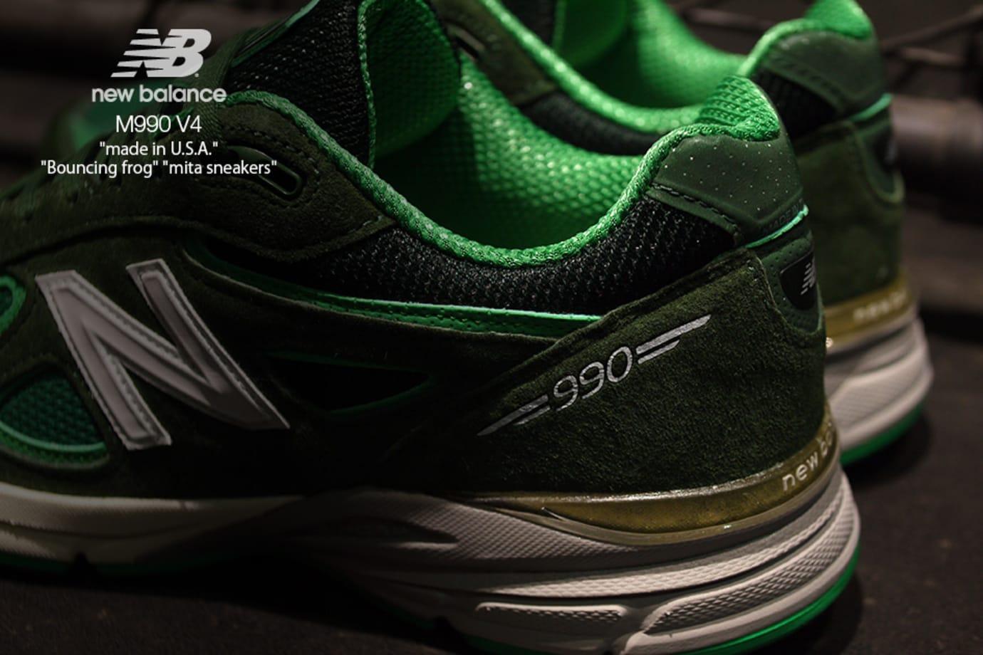 Mita Sneakers x New Balance 990v4 'Bouncing Frog' (Back)