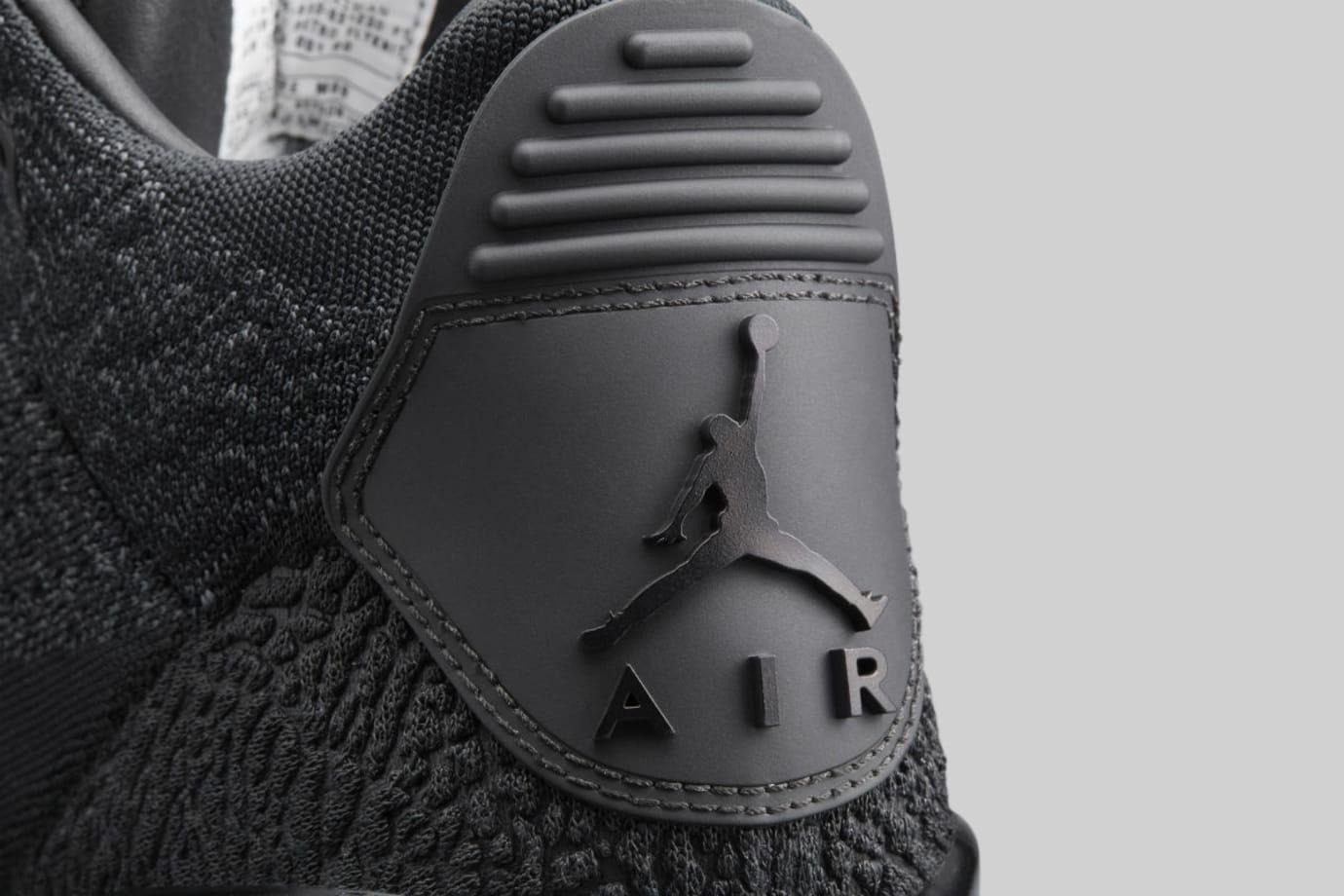 Air Jordan 3 III Flyknit Black Glow Release Date AQ1005-001 Heel Tab