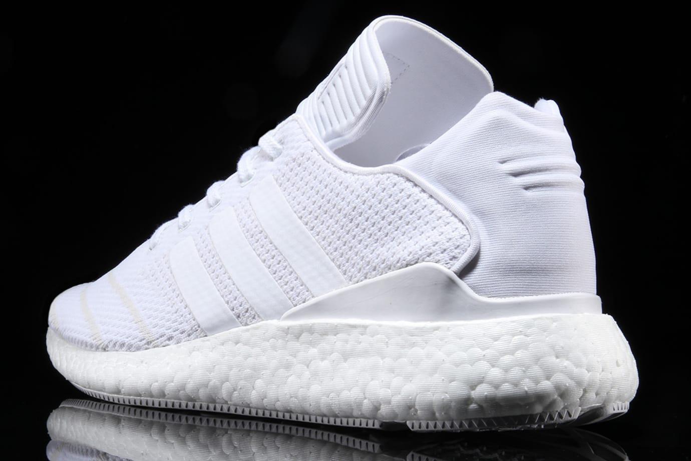 Adidas Busenitz Pure Boost Triple White Heel