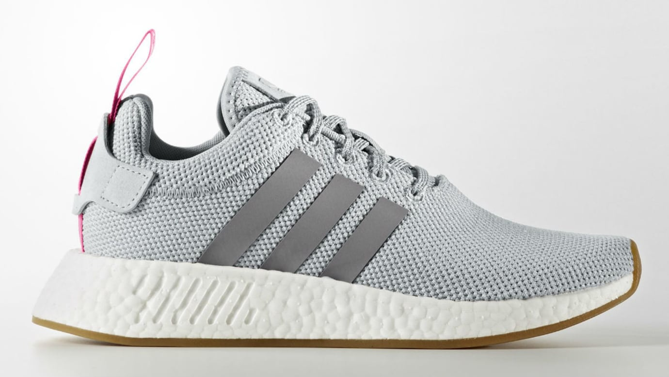 Adidas Women's NMD_R2 Grey Shock Pink Release Date BY9317