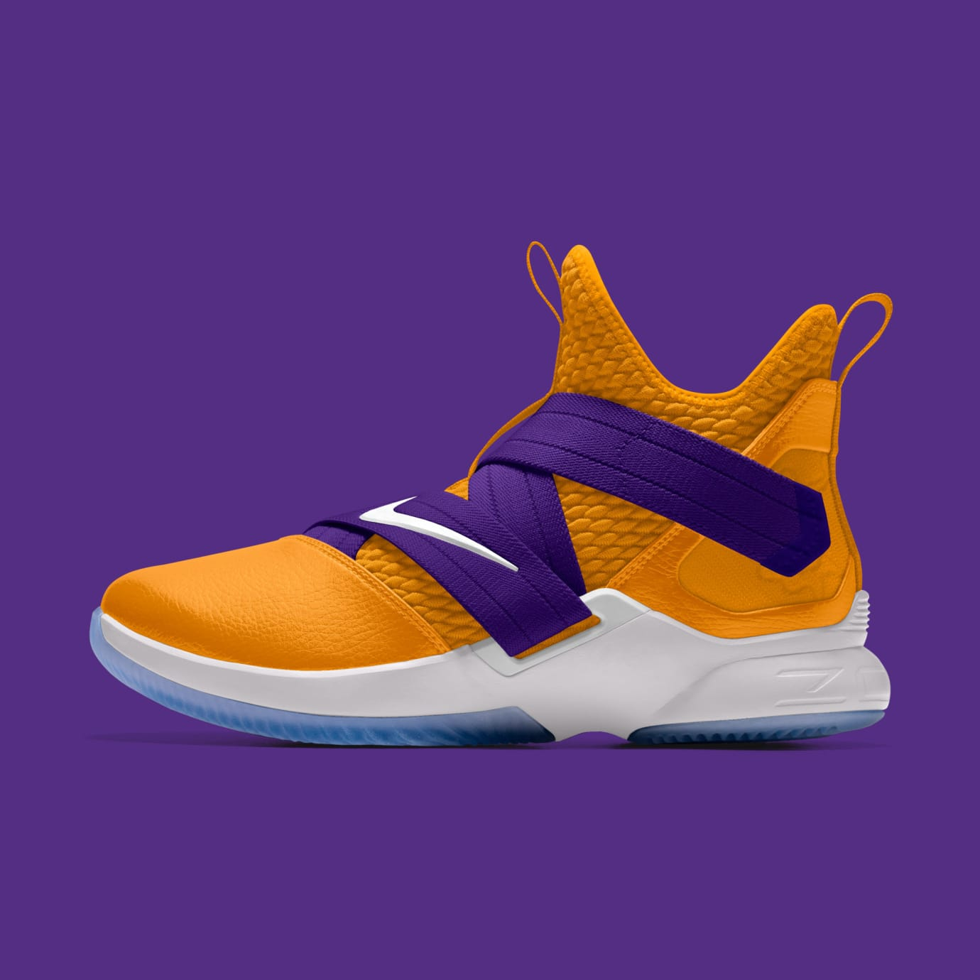 meet 52501 bba24 NIKEiD LeBron Soldier 12 Lakers