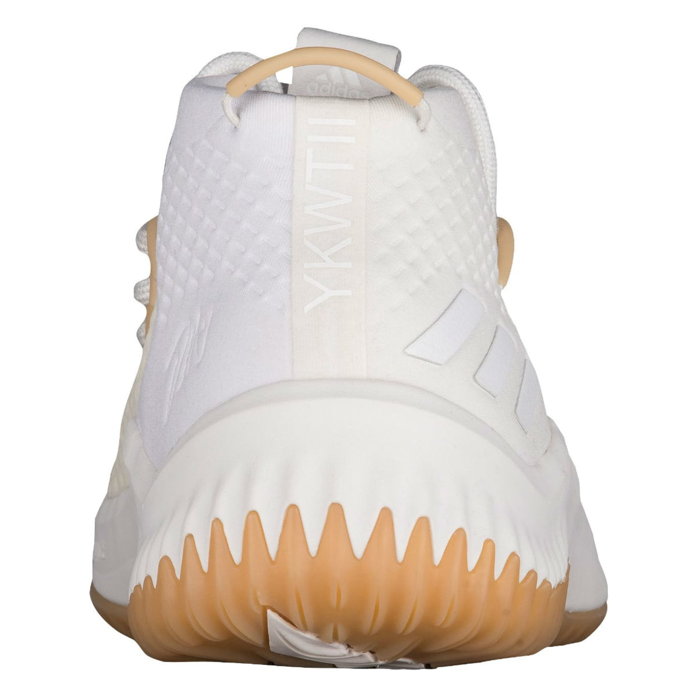 best service 9f9a8 72c63 Adidas Dame 4 White Gum Release Date Heel BY4496