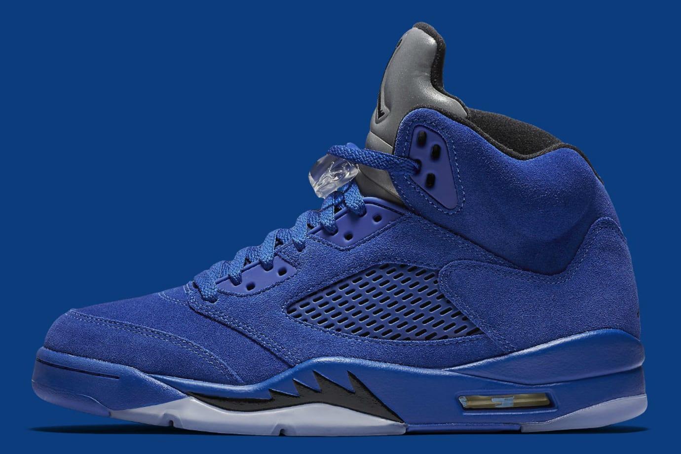 9d46b7b7cf3f66 Air Jordan 5 Royal Blue Suede Flight Suit Release Date Profile 136027-401