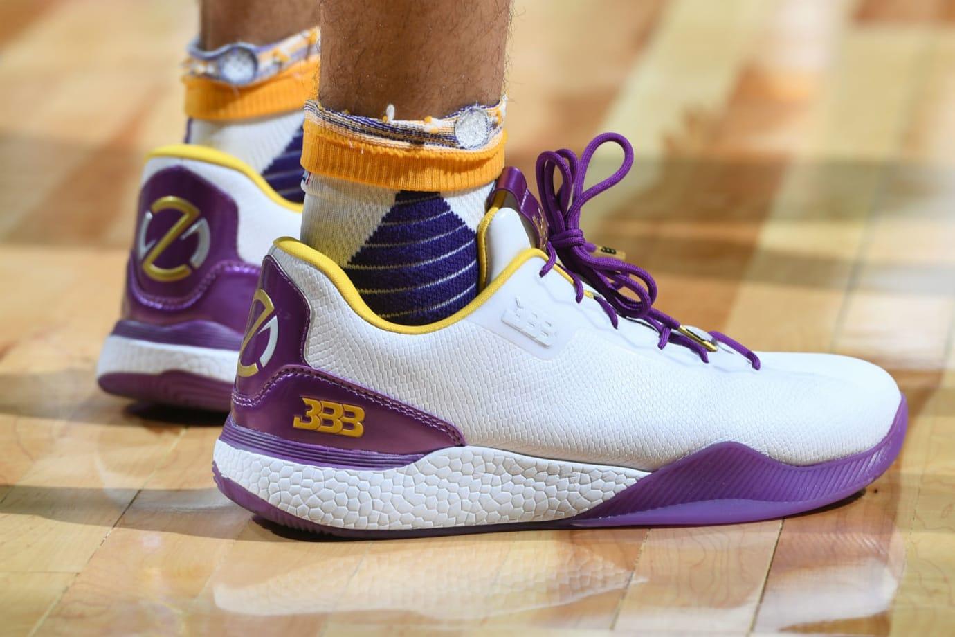 Lonzo Ball Big Baller Brand ZO2 SHO'TIME Lakers Summer League Debut On-Foot