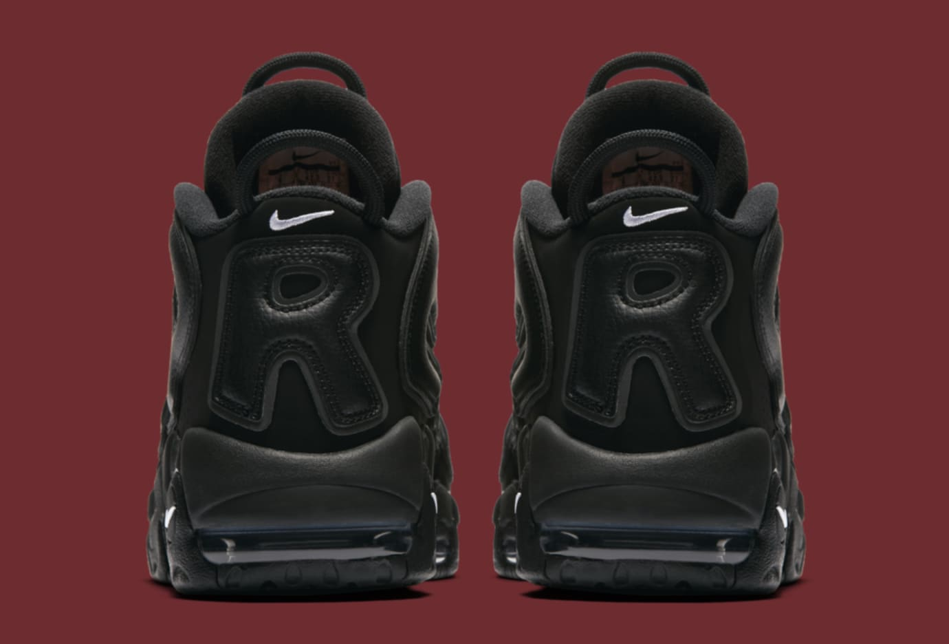 Black Supreme Nike Air More Uptempo 902290-001 Heel