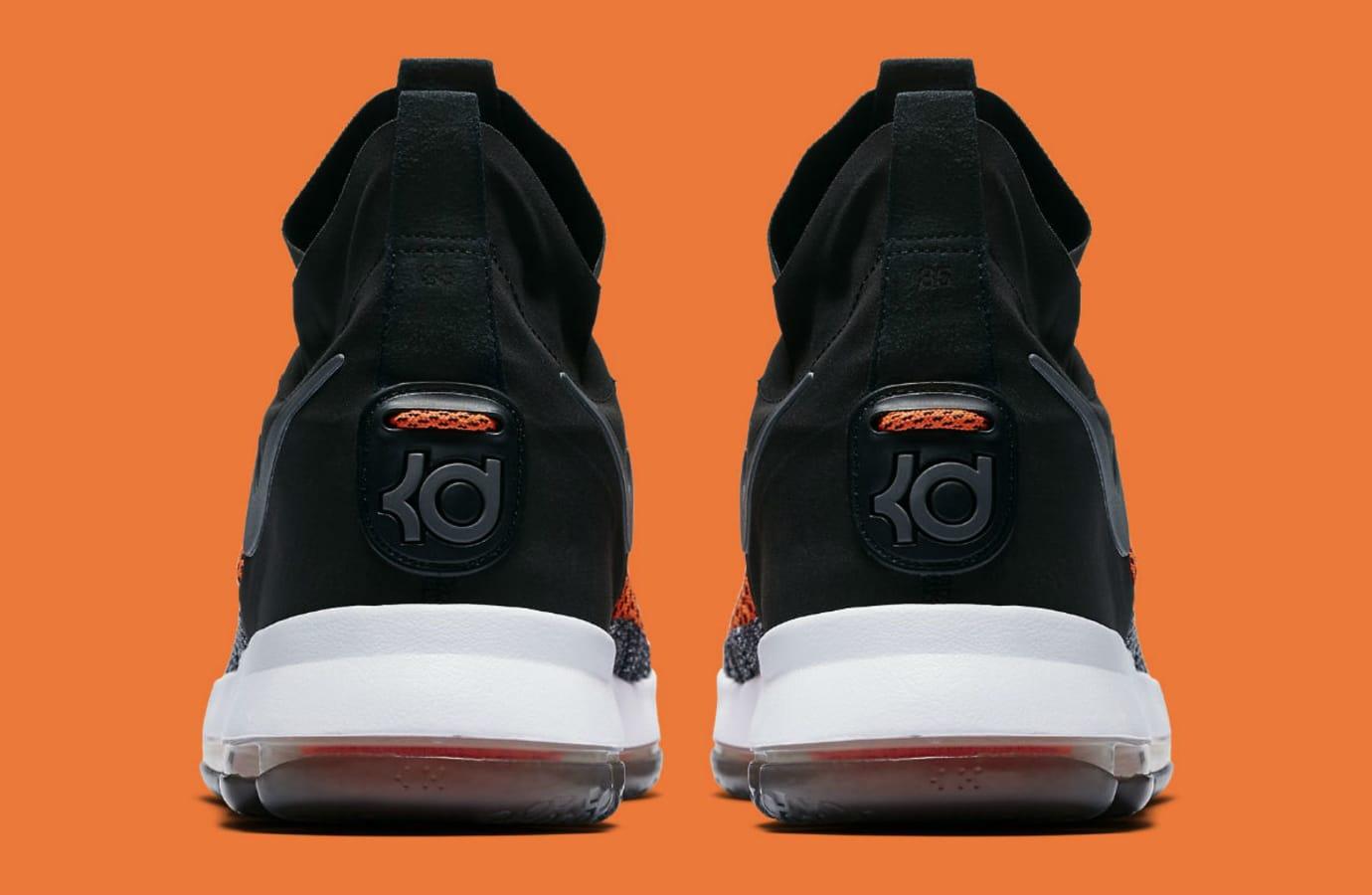 Nike KD 9 Elite Hyper Orange Release Date Heel 878637-010