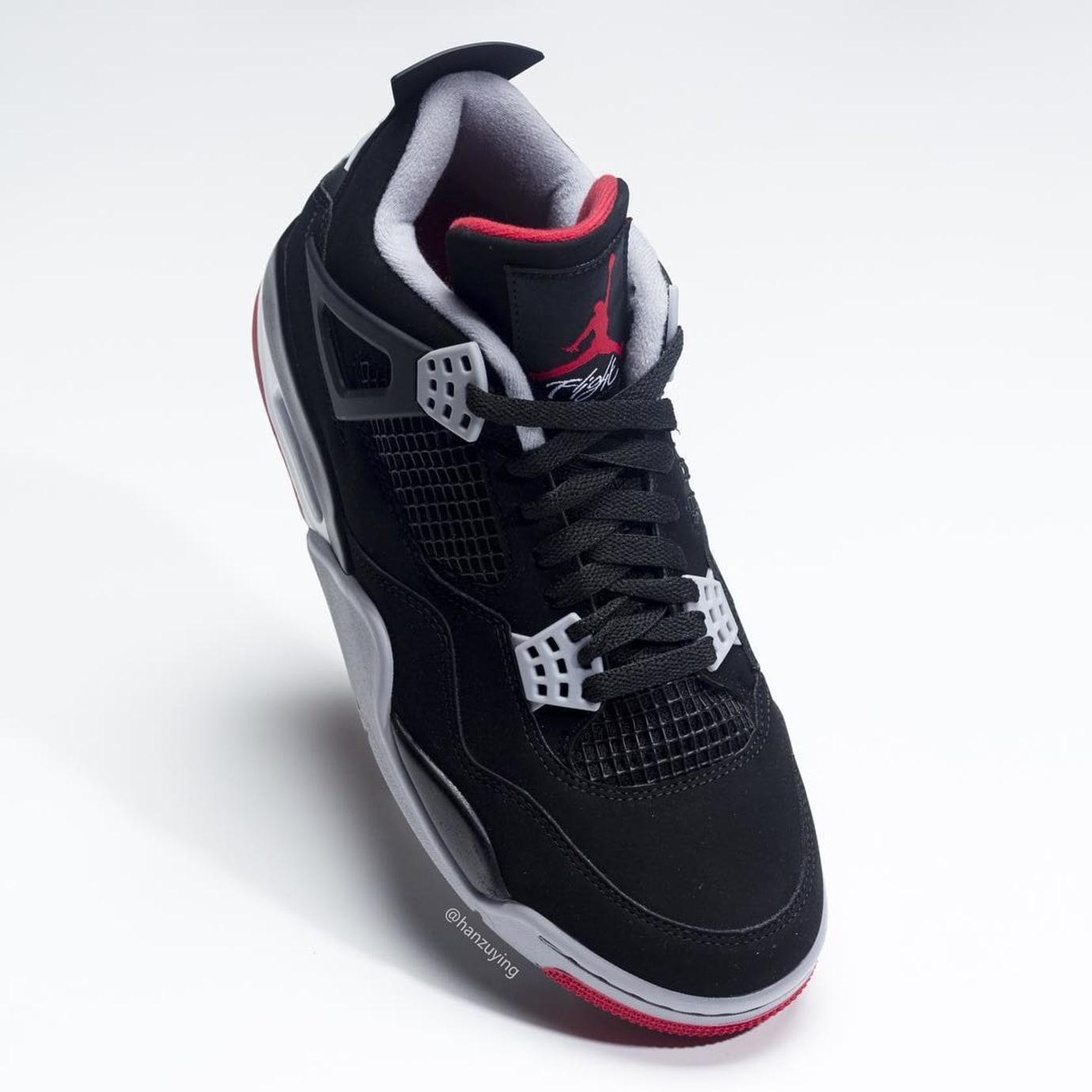 Air Jordan 4 Retro  Black Cement Grey Summit White Fire Red  308497 ... 96186d69a