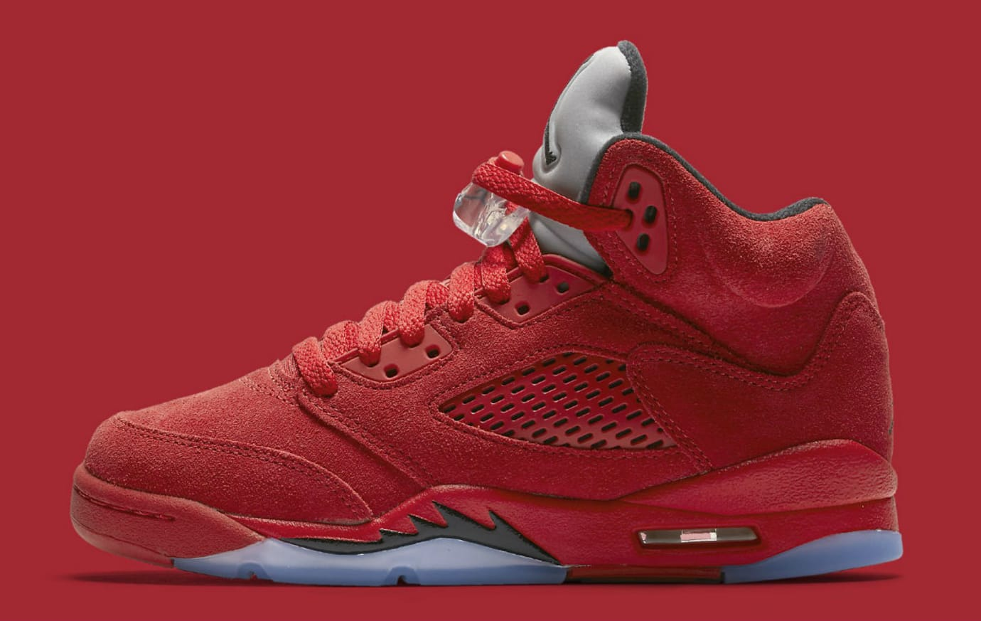 d4e3218b586d Air Jordan 5 Red Suede Full Family Sizes Release Date 136027-602 ...