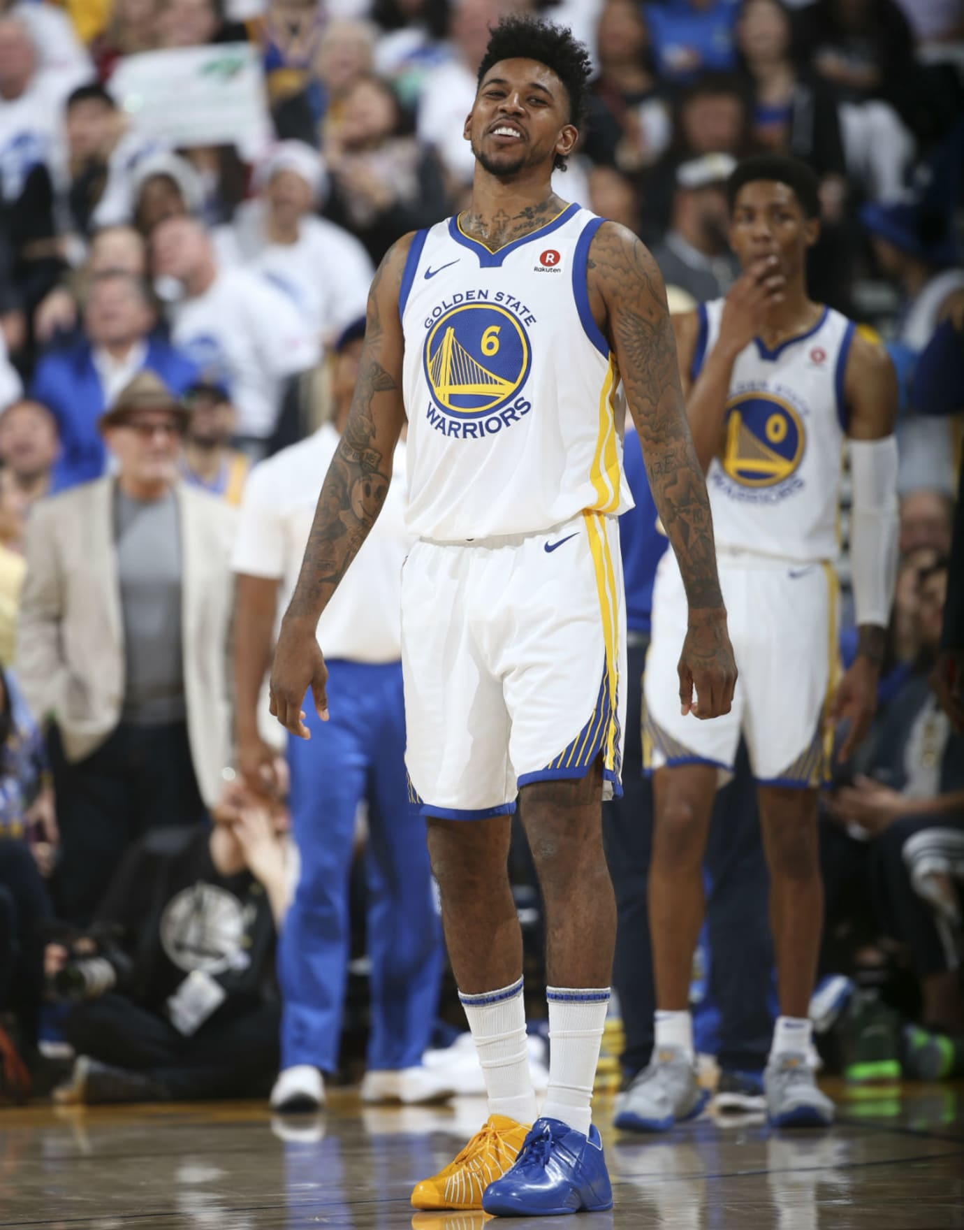Nick Young Adidas TMac 3 Mismatched Warriors PE